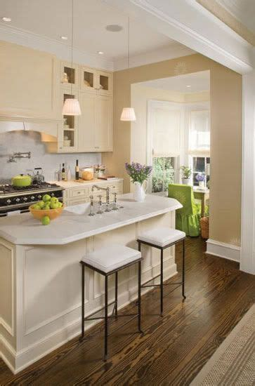 cream cabinets  white countertops  white kitchens