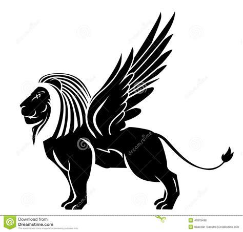 tatouage daile de lion illustration de vecteur image