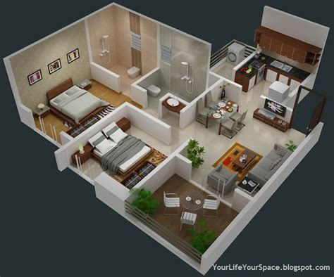 2 Bhk Home Design In India : 3 Bedroom House Design In India