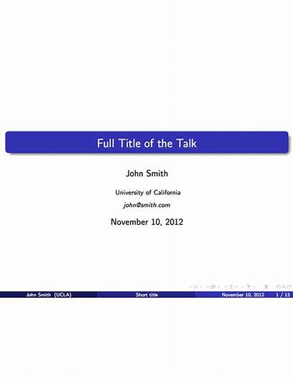 Latex Presentation Template Powerpoint Beamer Templates Presentations