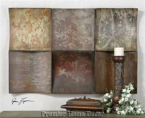 distressed hues metal wall art recreate  homemade