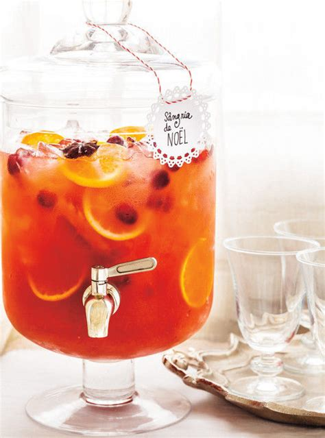 festive holiday punches christmas sangria