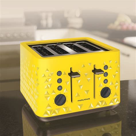 Yellow Toaster by Prism Yellow 4 Slice Toaster By Morphy Richards Toasters