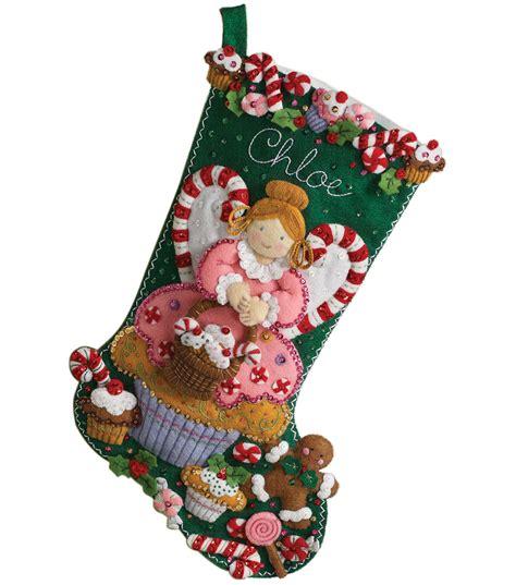 make it and bake it christmas ornaments kit bucilla cupcake felt applique kit 18 quot