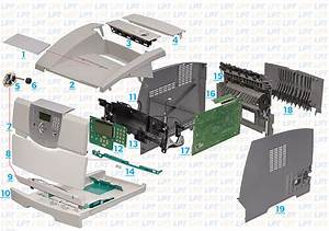 Covers Diagram For Lexmark T640
