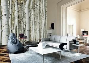 Fototapete Für Wohnzimmer : 40 ideen mit fototapete wald lassen sie die natur ins haus ~ Sanjose-hotels-ca.com Haus und Dekorationen