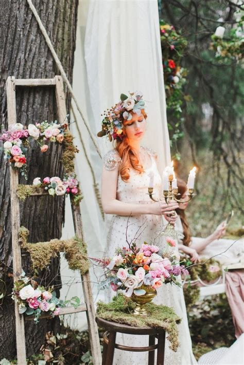 enchanted forest fairytale wedding  shades  autumn