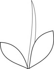 stem leaves clip art  clkercom vector clip art