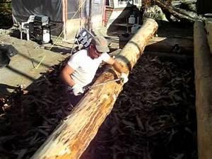 Comment Creuser Un Tronc D Arbre : enlever l 39 corce remove bark youtube ~ Melissatoandfro.com Idées de Décoration