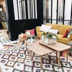 jardin bohemien dans la maison boheme de la creatrice de With tapis de course pas cher avec la maison des canapés
