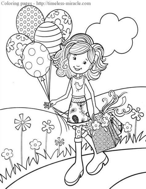 fun coloring pages  girls timeless miraclecom