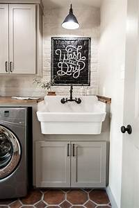 25 best ideas about laundry room sink on pinterest With best brand of paint for kitchen cabinets with funny toilet wall art