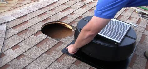 install  tr solar powered attic fan