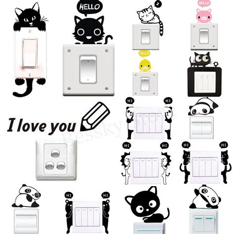 Home Decor Decals by Various Wall Stickers Light Switch Decor Decals Mural