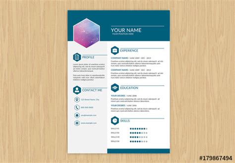 Resume Header Creator by Resume With Teal Header And Footer Buy This Stock