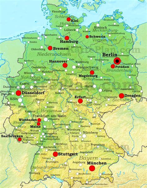 physische landkarte von deutschland