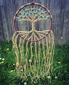 Tuto Attrape Reve Arbre De Vie : macrame tree of life dream catcher woven with hemp fiber ~ Voncanada.com Idées de Décoration