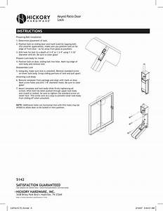 First Watch Security Chrome Keyed Patio Door Lock Guide D