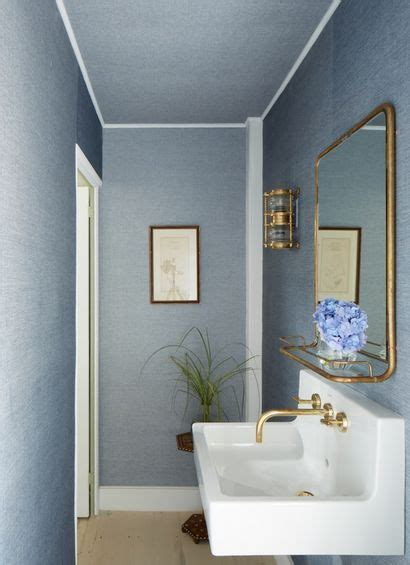 smokey blue linen bathroomplus ceiling ash nyc rooms