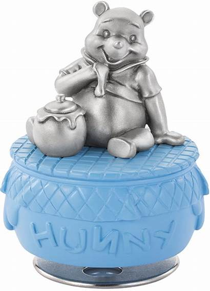 Pooh Winnie Honeypot Carousel Musical Collectible Pewter
