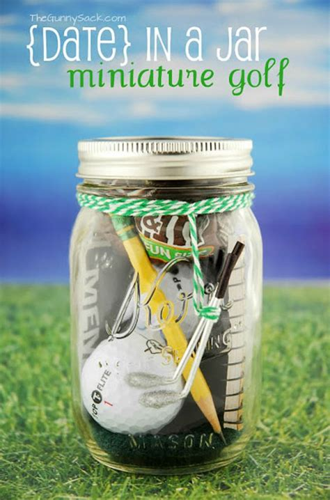 in a jar golf and christmas gifts on pinterest