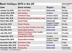 August 2018 Calendar With Holidays UK printable yearly