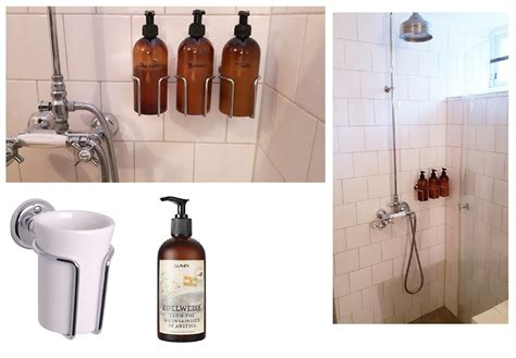 No Soap Shower - no more bottles on the floor in the shower wall mounted