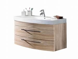 Waschtisch 100 Cm Breit : bad waschtisch rima 2 ausz ge 100 cm breit eiche sonoma bad waschtische ~ Indierocktalk.com Haus und Dekorationen