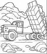 Mack Truck Coloring Pages Dump Printable Getcolorings Clipart Clip sketch template
