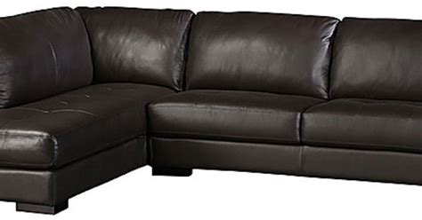 Boone Leather Sofa Chaise