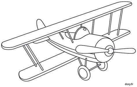 coloriage un avion biplan dory fr coloriages