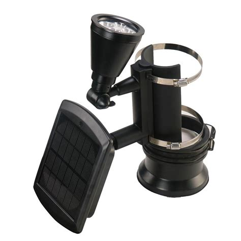 outdoor flag pole lights nature power black outdoor solar powered 4 led flagpole