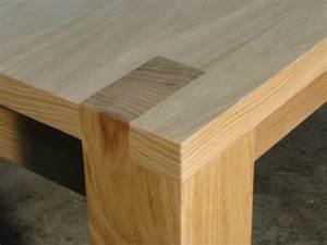 Table Bois Massif Contemporaine : table carre contemporaine ebenisterie brettes ~ Teatrodelosmanantiales.com Idées de Décoration
