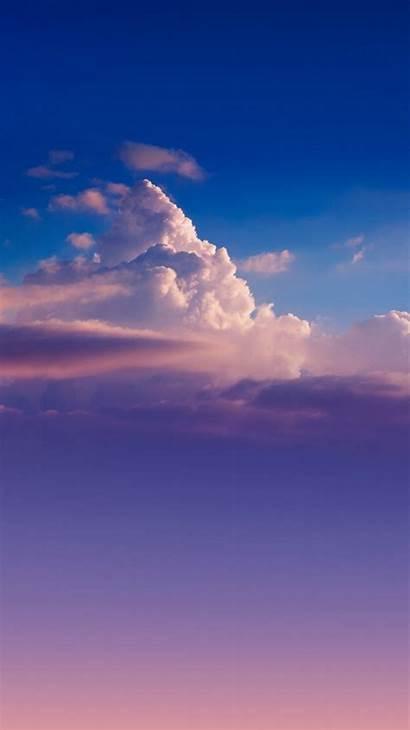 Sky Iphone Gradient Cloud Wallpapers Iphonewalls Nature