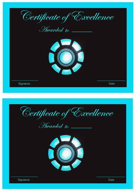 iron man awards birthday printable