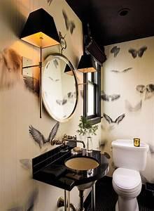 Animaux Décoration Intérieure : d coration int rieure wc toilettes blanc noir papier peint animaux peinture plafond ~ Teatrodelosmanantiales.com Idées de Décoration