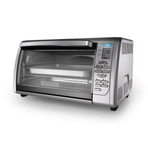 black decker stainless steel convection 6 slice toaster oven black decker 6 slice digital convection toaster oven in