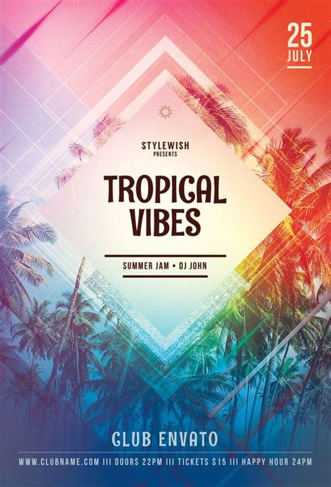 tropical poster template 724 best flyer design templates images on pinterest