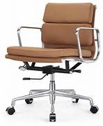 Offices To Go Chairs by M342 Eames Style Soft Pad Office Chair In Brown Leather Modern Office Cha