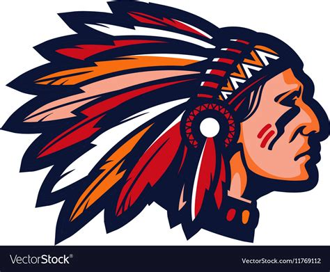 Indian Chief Image by Indian Chief Logo Or Icon Mascot Royalty Free Vector Image