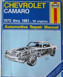 Haynes Automotive Repair Manual Chevrolet Camaro 1970