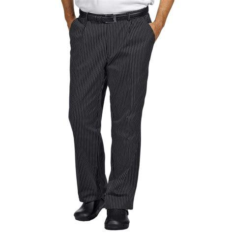 pantalon cuisine noir pantalon de cuisine ou de service fines rayures tissées