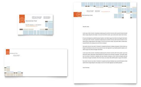 civil engineers business card letterhead template design