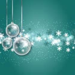 christmas bubbles with snowflakes background vector free download