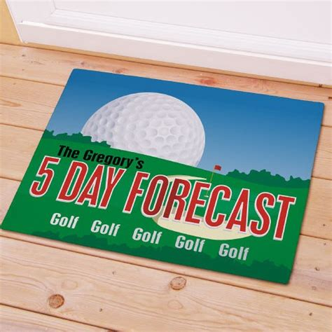 golf doormat personalized golfer s doormat golf forecast welcome mat