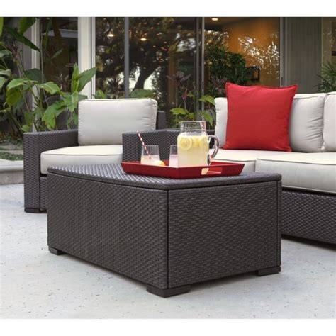 Coffee tables with storage are better than regular coffee tables, wouldn't you agree? Shop Serta Laguna Outdoor Storage Coffee Table - Brown ...