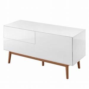 Sideboard Massiv Weiß : sideboard lindholm v wei matt eiche massiv ~ Indierocktalk.com Haus und Dekorationen
