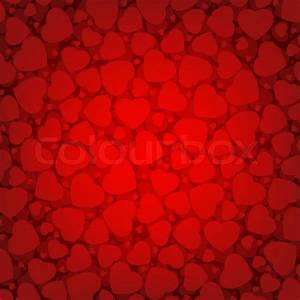 Red Valentine's day background with hearts Stock Vector