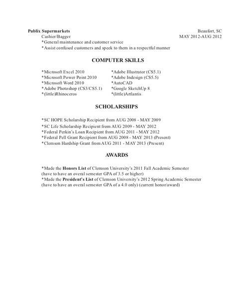 s resume 2012