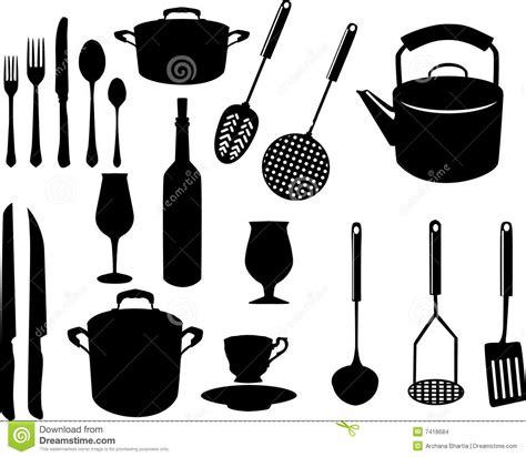 ustensile de cuisine en m en 6 lettres ustensiles divers de cuisine illustration de vecteur